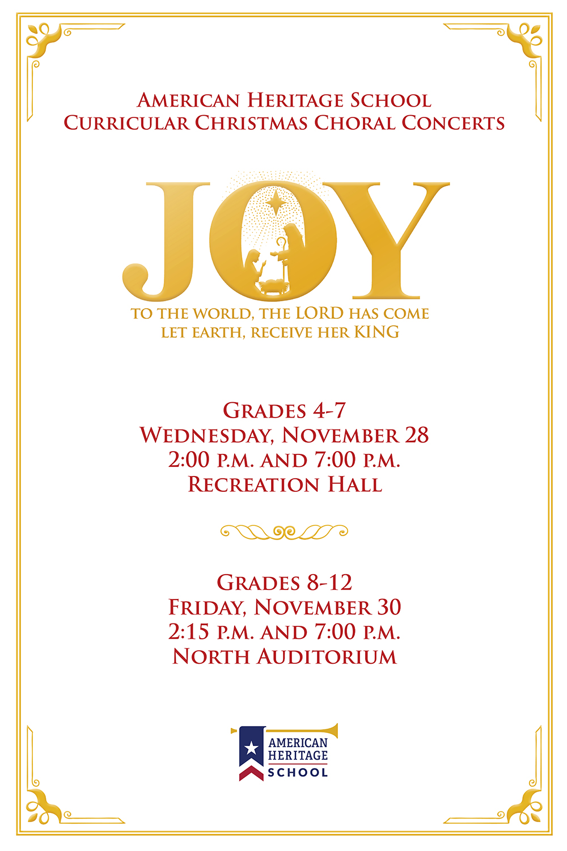 Christmas Choral Concerts - Nov  28 & 30 | American Heritage